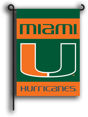 Miami Hurricanes 2-Sided Garden Flag picture