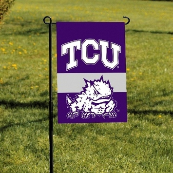 Texas Christian Horned Frogs 2-Sided Garden Flag picture