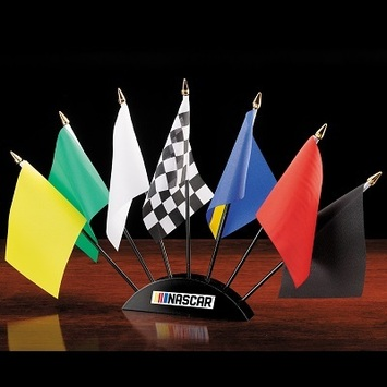 NASCAR 7 Piece Flag Desk Set picture