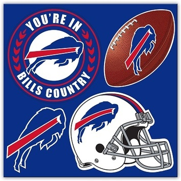 Buffalo Bills 4 Piece Magnet Set picture