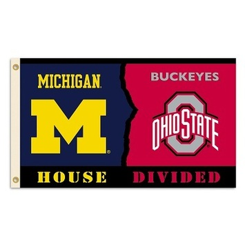 Michigan - Ohio St.3 Ft. X 5 Ft. Flag W/Grommets - Rivalry House Divided picture