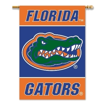 "Florida Gators 2-Sided 28"" X 40"" Banner W/ Pole Sleeve picture"