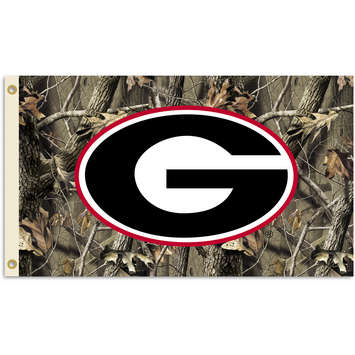 Georgia Bulldogs Realtree Camo Background 3 Ft. X 5 Ft. Flag W/Grommets picture