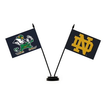 Notre Dame 2 Flag Desk Set picture