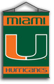 Miami Hurricanes Indoor Banner Scroll