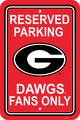 "Georgia Bulldogs 12"" X 18"" Plastic Parking Sign"