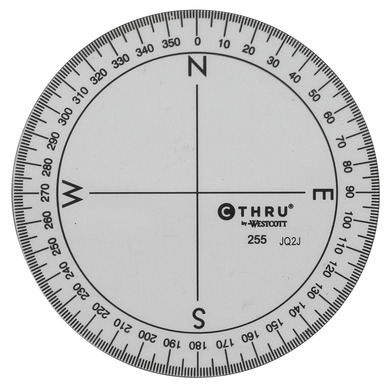 360 degree protractor print out pictures to pin on for Circular protractor template