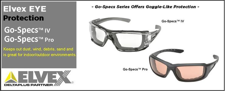 dc977777113 Go-Specs Series EVA Foam Back Safety Glasses
