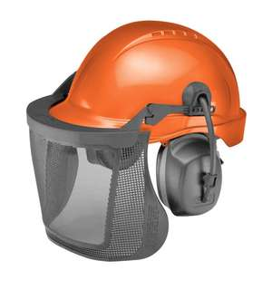 CU-60R ProGuard System with 6 Pt. Ratchet Tectra Safety Cap, Ear Muffs, Nylon Screen in Dielectric picture