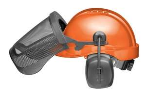 CU-30R-V ProGuard System Vented with 6 Pt. Ratchet Tectra Safety Cap, Ear Muffs, Steel Mesh picture