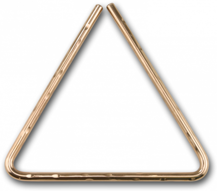 """5"""" Hand Hammered B8 Bronze Triangle picture"""