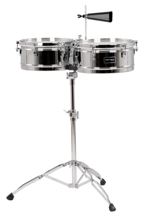 """Fiesta Series 13""""/14"""" Timbale Set Chrome picture"""