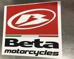 Beta Motorcycle Sticker, 15x14