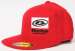 Beta Flat-Bill hat, Red