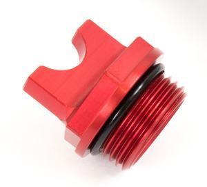 '18 Billet Oil Filler cap, 2-T Red picture