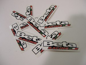 Beta Racing Sticker pack of 20 picture