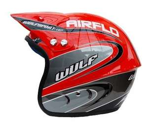 Wulfsport Trial Helmet, Red picture