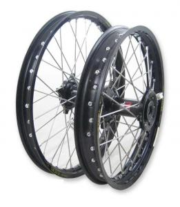 Wheel Set, Billet Black Hub, Black Rim, (DID or Excel) Black Spokes, Black Spoke Nipples. (19 Rear, 21 Front) picture