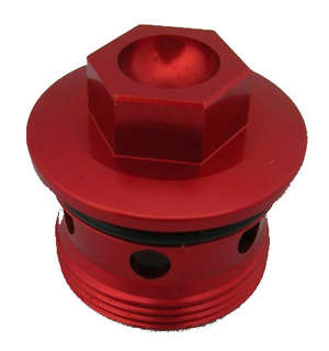 Billet Oil Drain Plug, Red picture