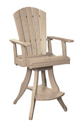 Swivel Pub Chair: Beige