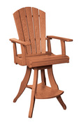 Swivel Pub Chair: Cedar