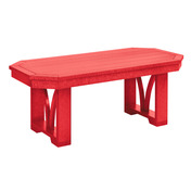 St.Tropez Rectangular Cocktail Table : Red