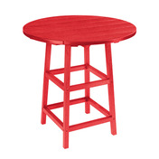 """Generations 32"""" Round Pub Table with Legs: Red"""