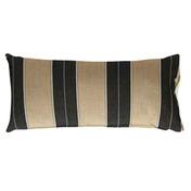 Lumbar Pillow: Brown/Black Stripe