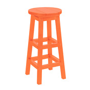 Swivel Bar Stool - Orange