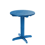 "Generations 32"" Round Pub Height Pedestal Table: Blue"