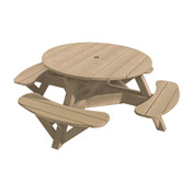 """Generations 51"""" Round Picnic Table - Color Frame"""