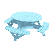 "Generations 51"" Round Picnic Table - Color Frame"