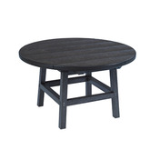 "Generations 32"" Round Cocktail Table with Legs: Black"