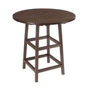 """Generations 32"""" Round Pub Table with Legs: Chocolate"""