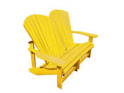 Generations Addy Love Seat: Yellow
