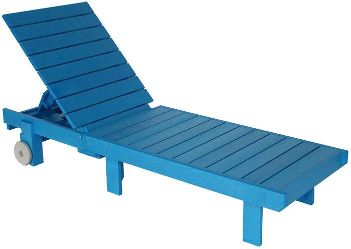 Chaise lounge blue cr plastic products us for Blue chaise lounge